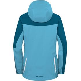 VAUDE Moab Rain Jacket Women crystal blue